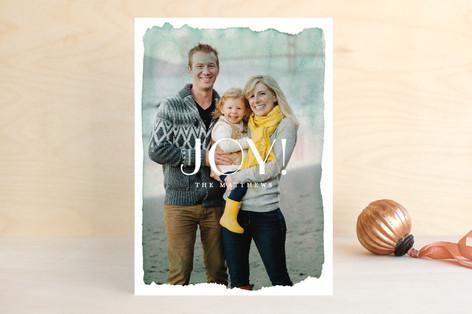 Aquarelle no.2 Christmas Photo Cards