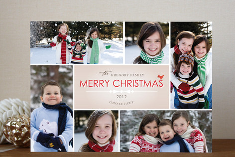 Bowtie Christmas Photo Cards