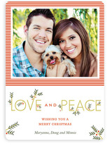 Typographic Christmas Photo Cards