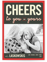 Float + Cheers to You Christmas Photo Cards