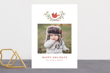 cardinal crest Christmas Photo Cards