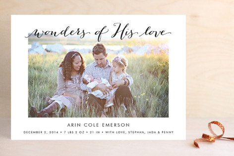 wonders of his love christmas photo cards - Love Christmas Cards