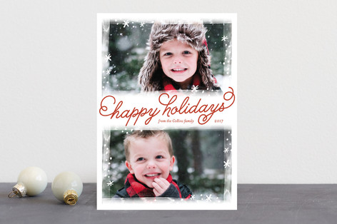 Frosted Frames Christmas Photo Cards