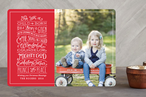 Book of Isaiah Christmas Photo Cards