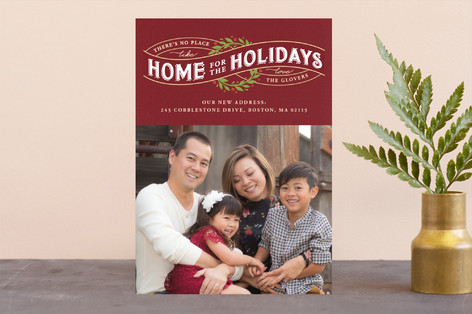 There's no Place Like Home Christmas Photo Cards