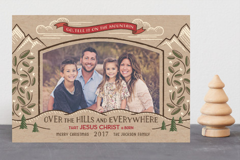 Go, Tell it on the Mountain Christmas Photo Cards