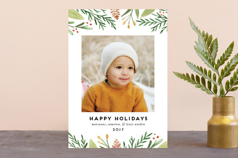 Golden Berries Christmas Photo Cards