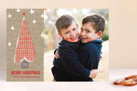 Love Tree Christmas Photo Cards