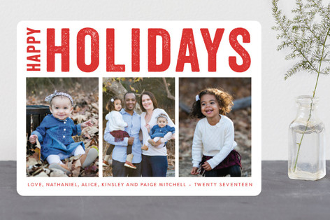 Merry Triptych Christmas Photo Cards