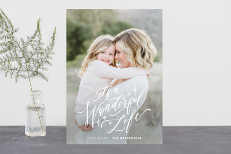 A Most Wonderful Life Christmas Photo Cards