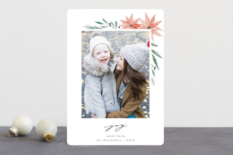 Floral Glory Christmas Photo Cards