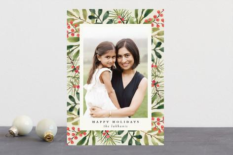 Tropical Pine Christmas Photo Cards