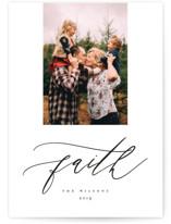 Simple Script Christmas Photo Cards