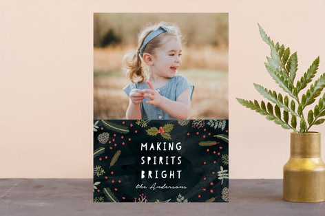 Bright Spirit Christmas Photo Cards