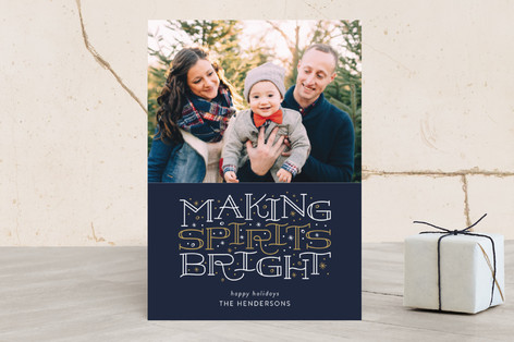 Brightest Spirits Christmas Photo Cards