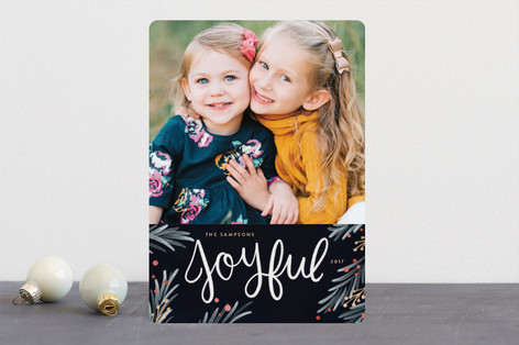 Painted Pine Christmas Photo Cards