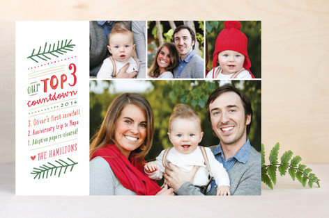 Countdown List Christmas Photo Cards