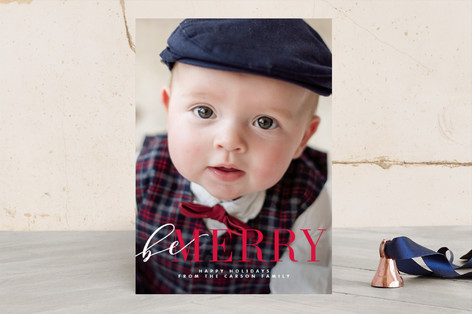 Wrapped Merry Christmas Photo Cards