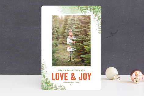 Winter Sketchbook Christmas Photo Cards