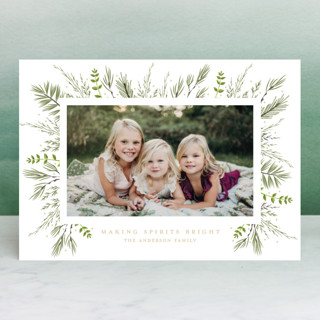 Bed of Greens Christmas Photo Cards