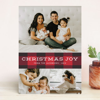 Plaid Tidings Christmas Photo Cards