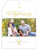 A Savior is Born Christmas Photo Cards