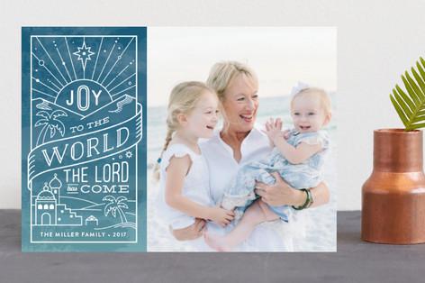 Ombre Joy Christmas Photo Cards