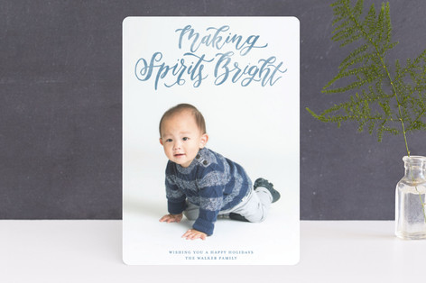 Silent and Holy Night Overlay Christmas Photo Cards