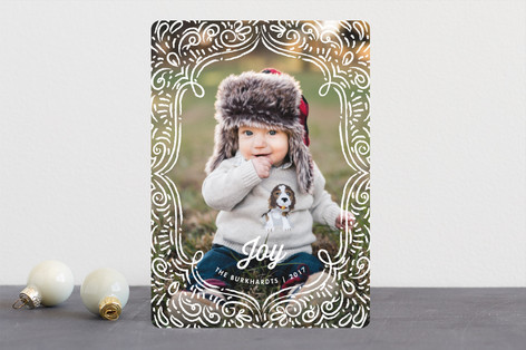 Drawn Frame Christmas Photo Cards