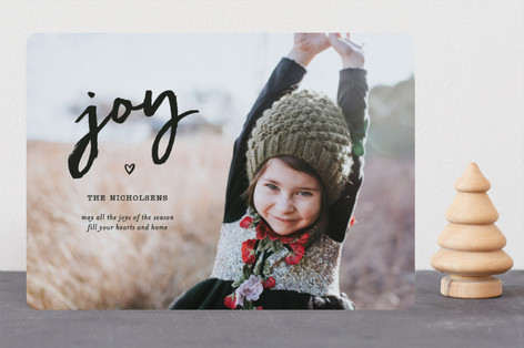 Joy In Your Heart Christmas Photo Cards