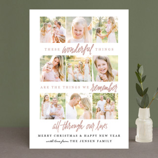 Wonderful Things Christmas Photo Cards