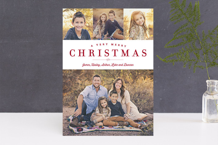"""""""Sparkling Border"""" - Elegant, Photo Collage Christmas Photo Cards in Shiraz by Carrie ONeal."""