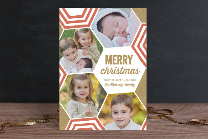Bright + Geometric Christmas Photo Cards