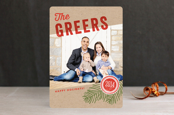 We Are Family Christmas Photo Cards