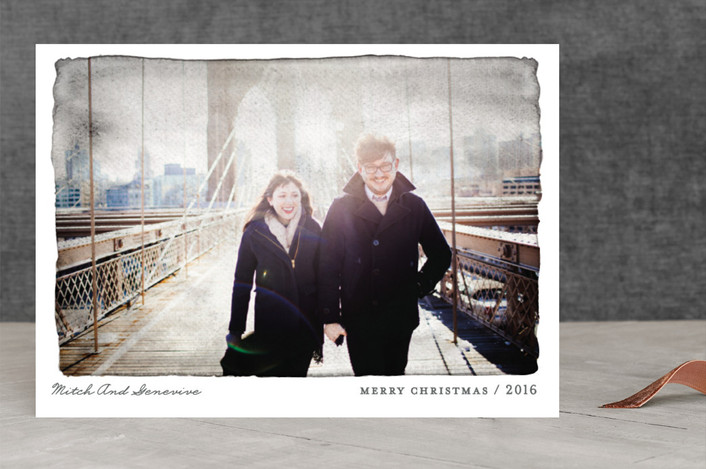 """""""Aquarelle"""" - Modern Christmas Photo Cards in Ash by j.bartyn."""