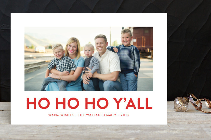 """""""Southern Accent"""" - Modern, Funny Christmas Photo Cards in Rodeo Red by toast & laurel."""