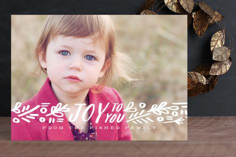 Ribbon of Joy Christmas Photo Cards