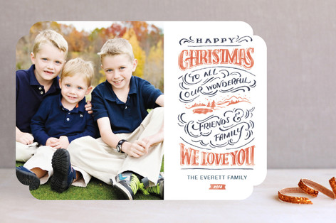 Christmas Landscape Christmas Photo Cards