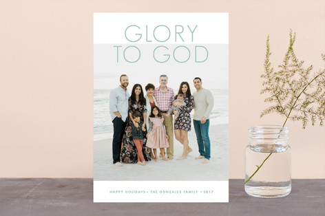 God's Glory Christmas Photo Cards