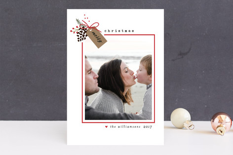 Holiday Merry Tag Christmas Photo Cards