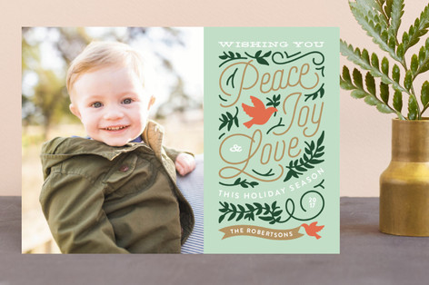 Doves Christmas Photo Cards