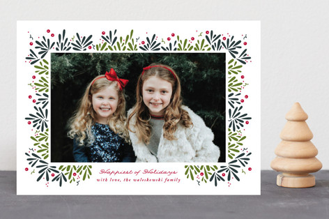 Berry Branches Christmas Photo Cards