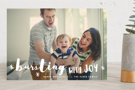 Bursting Christmas Photo Cards
