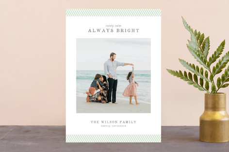 rarely calm stripes Christmas Photo Cards