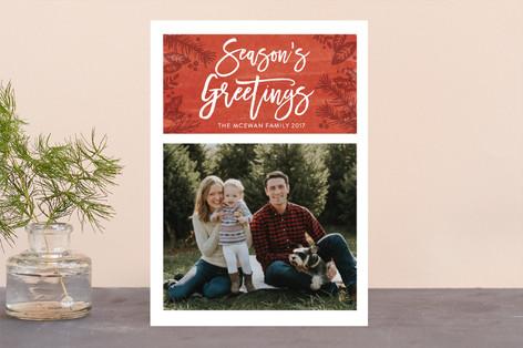 Festive Foliage Christmas Photo Cards