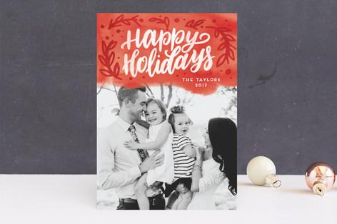 Botanical Bright Christmas Photo Cards