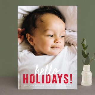 hello Christmas Christmas Photo Cards