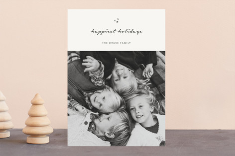 minimal blessings Christmas Photo Cards