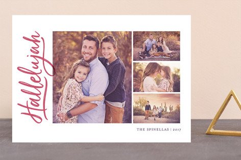 Side Swept Christmas Photo Cards