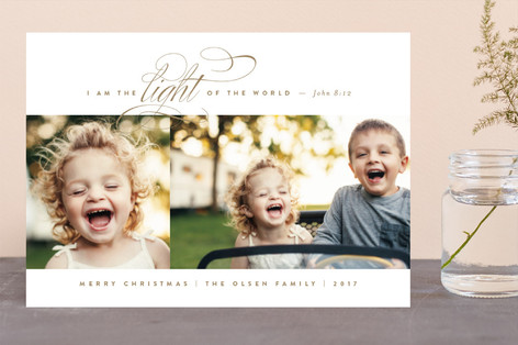 In His Light Christmas Photo Cards